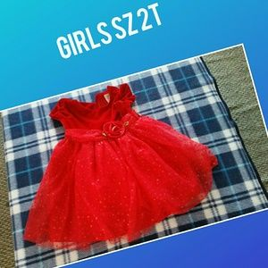 Brand new girls size 2t red dress